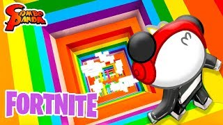 EPIC RAINBOW DROPPER IN FORTNITE ! Let's Play Impossible Fortnite Mini Game