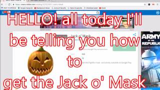 How to get the Jack O' Mask on Roblox [PC]