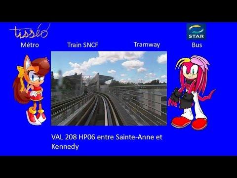 Métro de Rennes - VAL 208 HP06 Sainte-Anne - Kennedy - YouTube