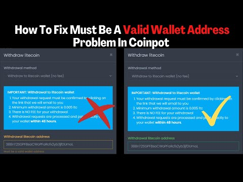 How To Fix ''Must Be A Valid Wallet Address'' Problem In Coinpot Or In Any Crypto Site In 2020