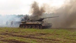Реконструкция танкового боя под Прохоровкой / Tank battle at Prokhorovka(Данная реконструкция проходила в рамках военного фестиваля