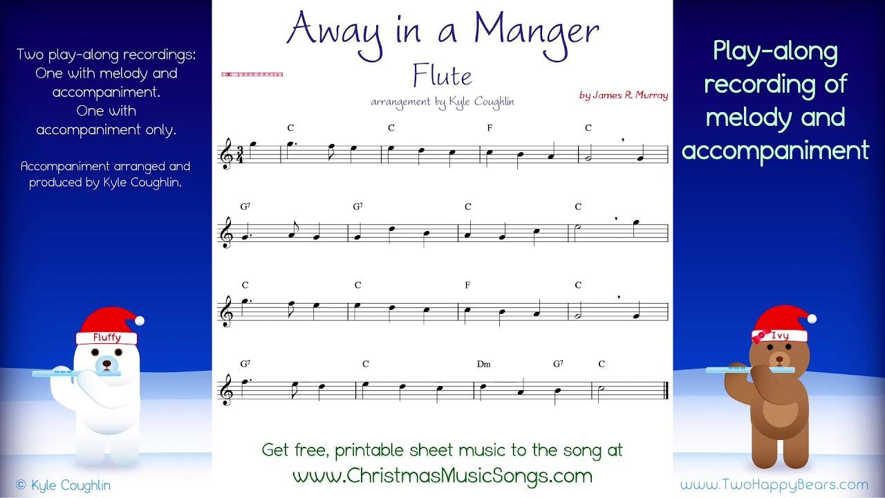 Away In A Manger For Flute Free Sheet Music