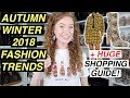 AUTUMN WINTER 2018 FASHION TRENDS (+ HUGE SHOPPING GUIDE!)  | 13 TRENDS FOR FALL 2018