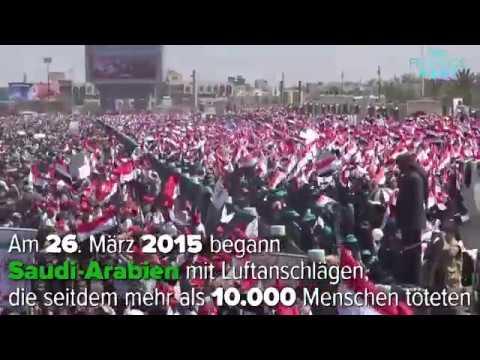 Protest zum dritten Jahrestag zum saudi-geführten Krieg im Jemen