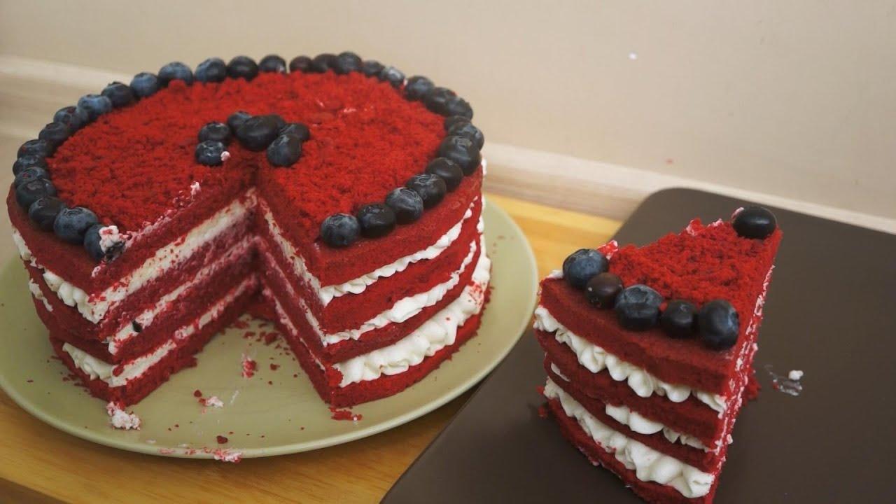 Видео рецепт торта красный бархат от ольги матвей