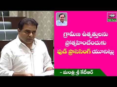 MInister KTR Speech on Food processing units | Telangana Assembly