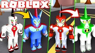 BEN 10 ROBLOX! THE EVOLUTION OF THE GIANT, SUPREME AND ULTIMATE ALIEN-BEN 10 FIGHTING GAMES