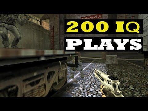 CS 1.6 - WHEN PROS Enter 200 IQ MODE (Smart Plays)