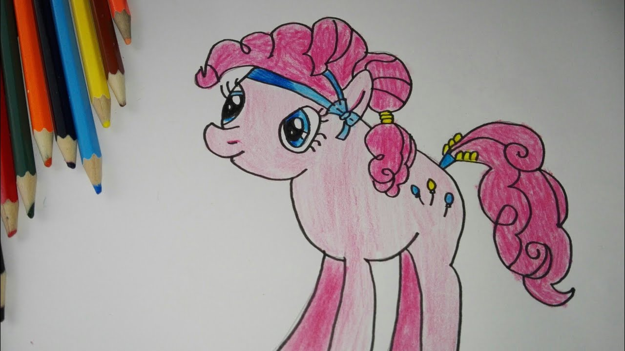 Menggambar Dan Mewarnai Mlp Pinkie Pie My Little Pony Youtube