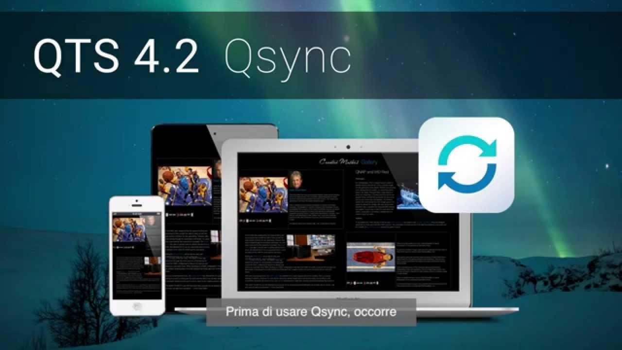 [QTS 4 2] Usare Qsync per aumentare l'efficienza nella collaborazione di  gruppo (IT)