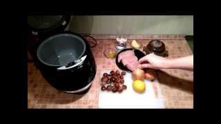 Вкусные видео рецепты - курица с каштанами в мультиварке