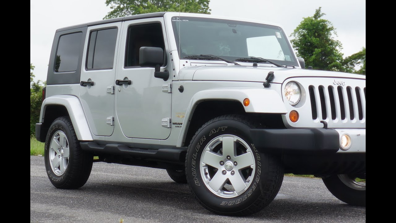 2011 Jeep Wrangler Sahara Unlimited For Sale~4 Door~Leather~Heated  Seats~Navigation~Salvage Title   YouTube