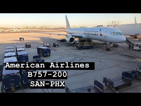 ✈ American Airlines  | B757-200 | San Diego - Phoenix   | Trip Report ✈