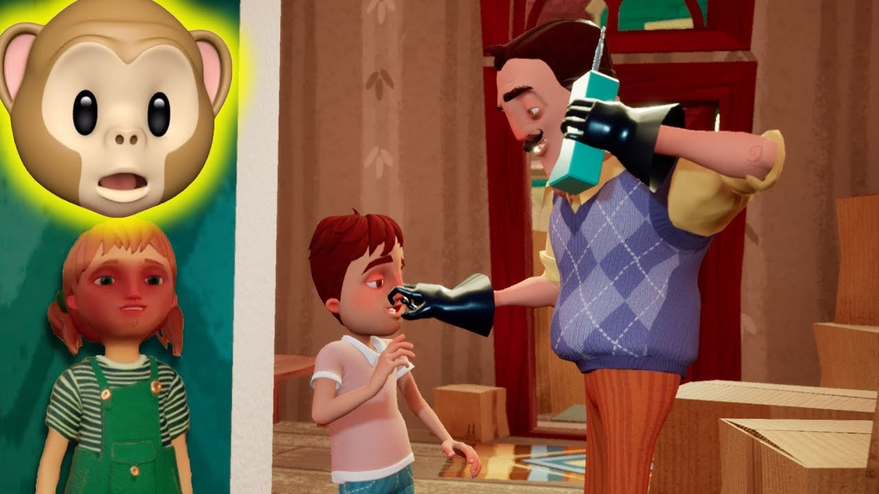 All New Game With His Children Hello Neighbor Hide And