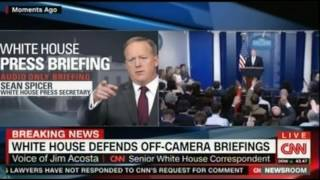 Cameras again, Spicer finally deals with the issue   He wants the Trump's voice to carry the day