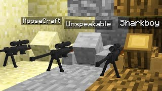 YOUTUBERS VS INVISIBLE MINECRAFT CAMO SNIPER BATTLE!