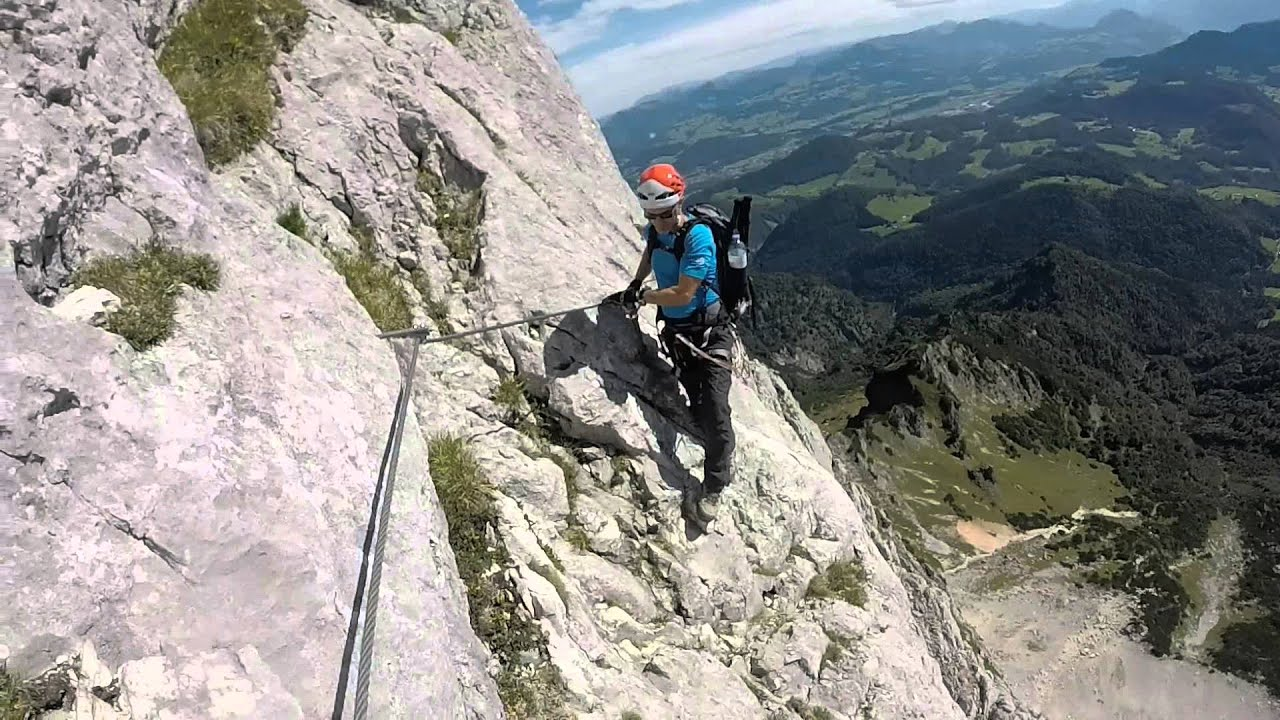 Klettersteig Hochthron : Berchtesgadener hochthron klettersteig youtube