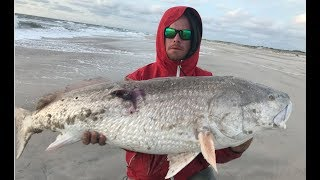 The 4 Day Hunt for BIG RED DRUM! Surf Fishing