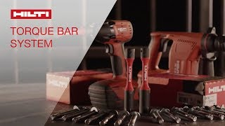 INTRODUCING the Hilti torque bar for KWIK BOLT 3 anchors