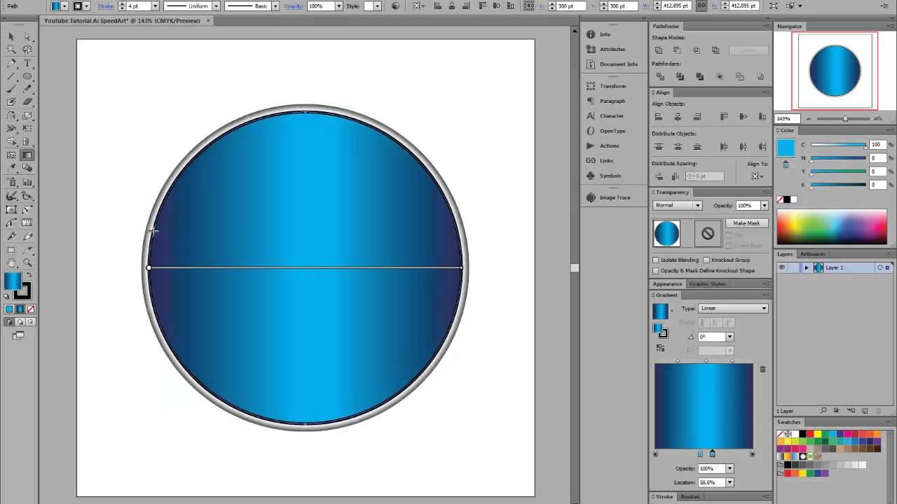 Adobe Illustrator CS6 Simple Circle Folder Icon | Speed ...