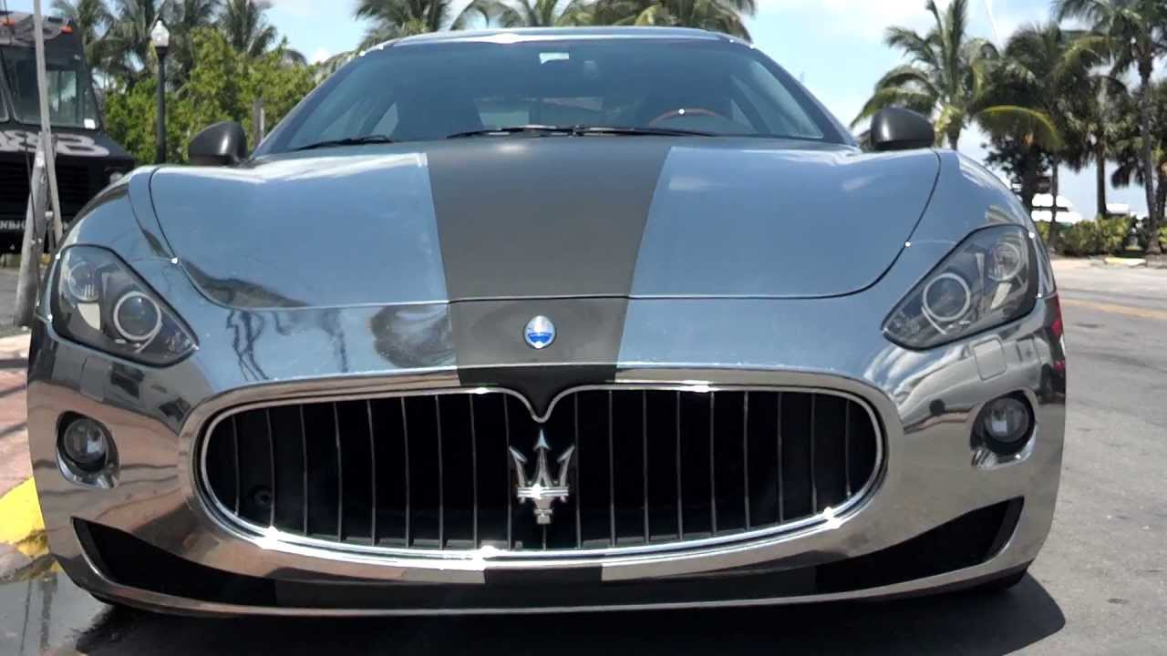 Maserati Videos - Chrome Wrapped Maserati Youtube Video - YouTube