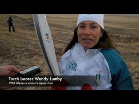2010 Winter Olympic Torch at Head-Smashed-In Buffalo Jump
