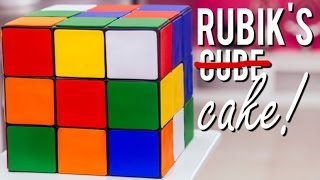 How To Make A RUBIK'S CUBE CAKE! Vanilla Cake, Chocolate Ganache and Fondant!