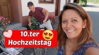 10 ter Hochzeitstag an der Mosel - Fahrradtour und Roomtour - Vlog#1010 Rosislife