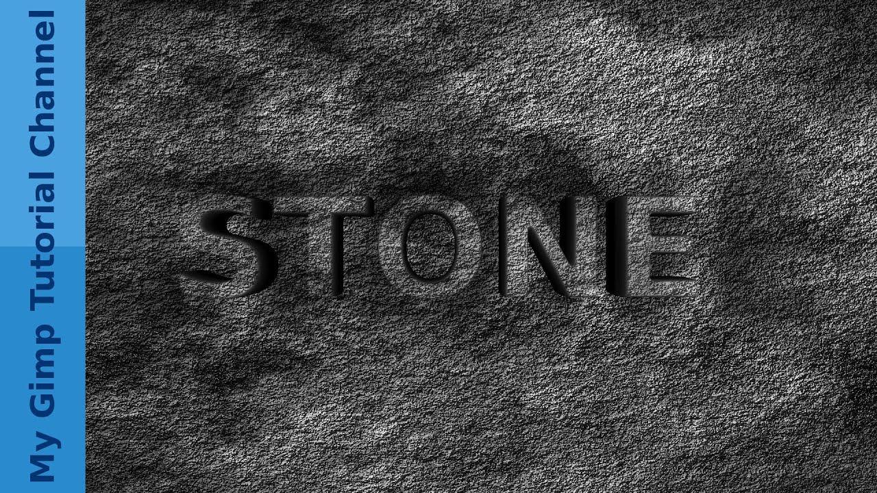 hintergrund aus stein und stein 3d schrift in gimp 2 8. Black Bedroom Furniture Sets. Home Design Ideas