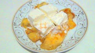 Сладкий десерт Жареные бананы в карамели с мороженым видео рецепт