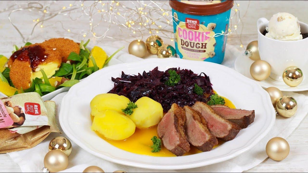 Weihnachten Entenbrust.3 Gänge Weihnachtsmenü Back Camembert Auf Feldsalat Mit Orangen Und