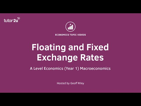 Floating and Fixed Exchange Rates