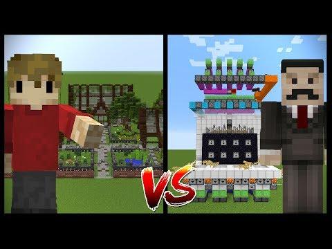 MINECRAFT BUILDING VS REDSTONE (Grian vs Mumbo)
