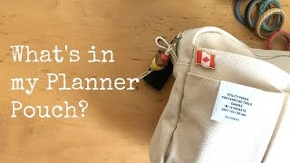 What's In My Planner Pouch | Planner Essentials | Delfonics Utility Pouch