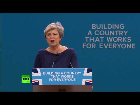LIVE: May closes Tory Party Conference
