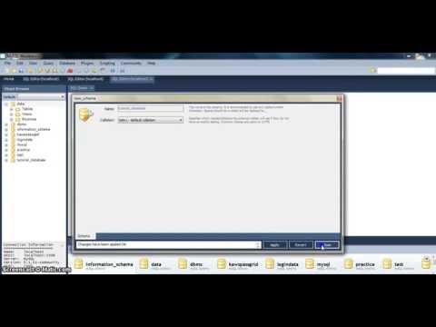 Create new database in mysql using workbench