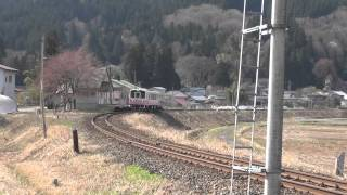【HD・警笛】由利高原鉄道「ゆりてつ」号 川辺駅にて