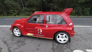 MG Metro 6r4 on the road