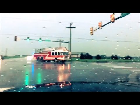 Oklahoma City Rescue Ladder 22 responding (out of district)