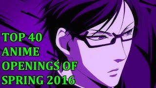 Top 40 Anime Opening of Summer 2016