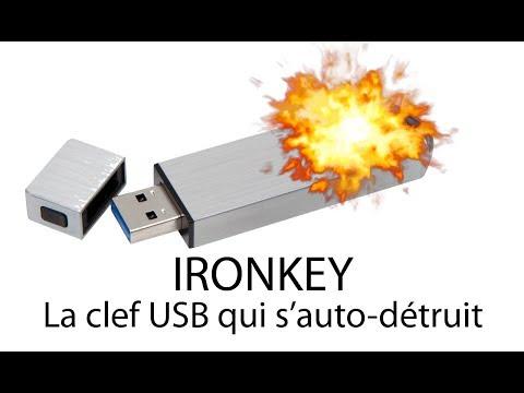 IRONKEY - La clef USB inviolable, auto-destructible.