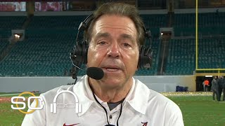 Nick Saban after winning his record-breaking seventh national championship | SC with SVP