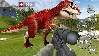 REAL DINO HUNTER - Walkthrough Gameplay Part 2 - THE END (Jurassic Adventure Game Android)