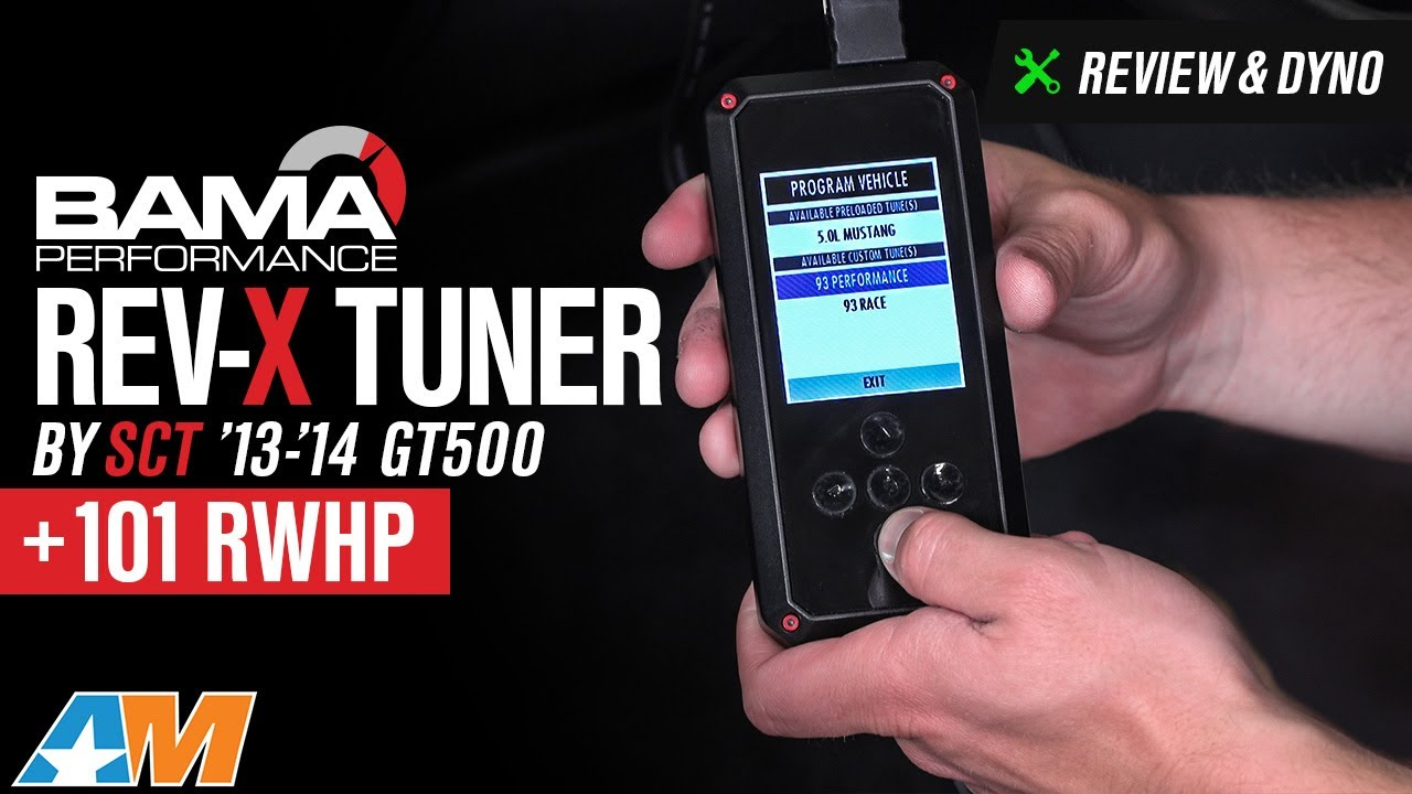 Bama Rev X Tuner Review >> 2013-2014 Mustang GT500 Bama Rev-X Tuner by SCT w/ 2 Custom Tunes Review & Dyno - YouTube