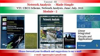 T 65 Networkt Analysis,VTU CBCS Scheme June July  2018,Module 2