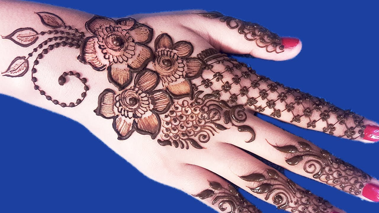 9dc03be534d9e Eid Mehndi Designs For Hands - Floral Mehndi Designs For Hands ...