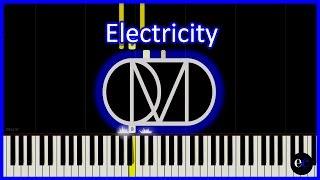 OMD - Electricity Piano Tutorial by elcyberguy