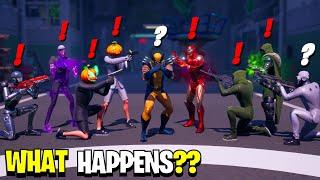 What Happens if ALL 9 Bosses Meet in Fortnite! | Boss Midas Meets Iron Man, Wolverine & Henchmen!
