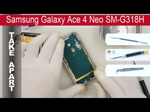 How to disassemble 📱 Samsung Galaxy Ace 4 Neo SM G318 Take apart, Tutorial