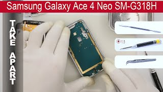 How to disassemble Samsung Galaxy Ace 4 Neo SM G318H Take apart, Tutorial(How to disassemble Samsung Galaxy Ace 4 Neo SM G318H by himself. Disassembly (take apart) and repair smartphone Samsung Galaxy G318H at home with ..., 2016-01-25T07:46:01.000Z)